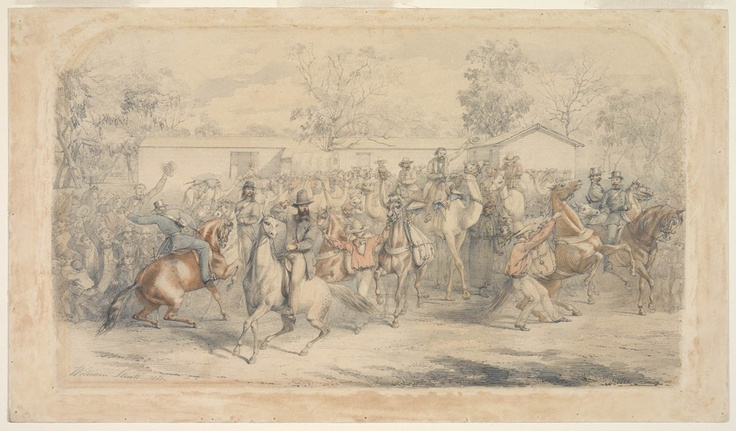 The Start of the Burke and Wills Exploring Expedition from Royal Park, Melbourne, August 20, 1860 / William Strutt