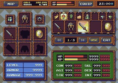 RPG Game: Interface Mockup - Update 2 @ PixelJoint.com