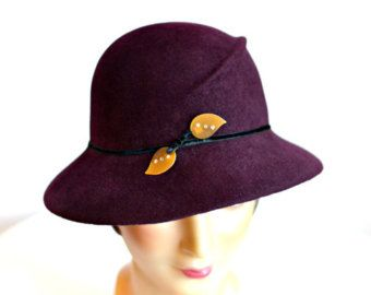 Cloche Rain Hat Waxed Canvas Rain Hat Made To Order 4 to by ...