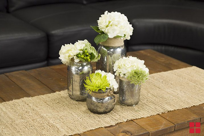 Mason Jars painted with mirror paint