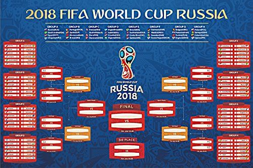 Lomire Affiche de la Coupe du monde 2018 en Russie, Poster de classement  pour les a3731bef0dd