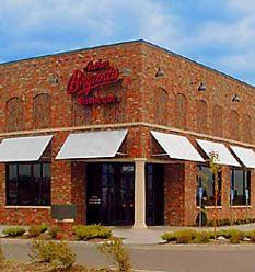Click to see interior of Kansas Speedway restaurant- Author Bryant BBQ Restaurant