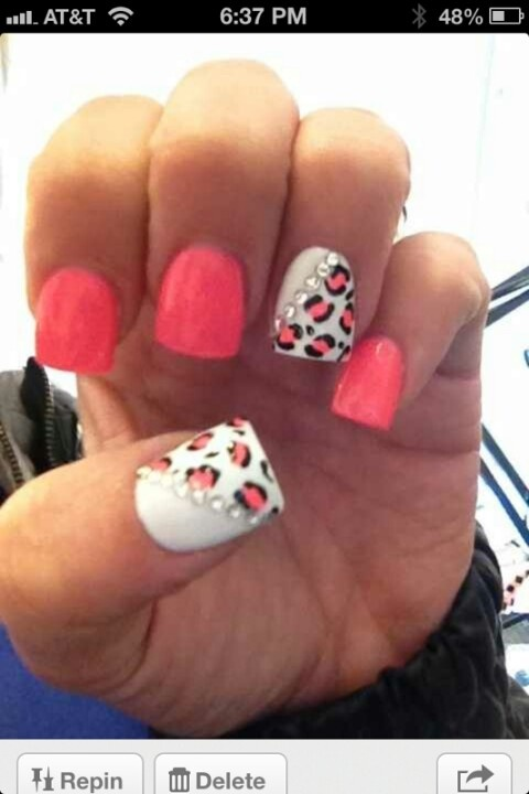 fan of the party nails :)  | See more at http://www.nailsss.com/colorful-nail-designs/2/
