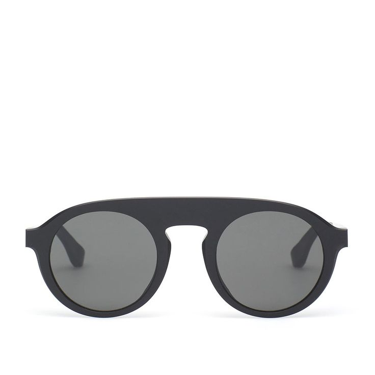 MMRAW003 sunglasses from Mykita collection in collaboration with Maison Margiela in black
