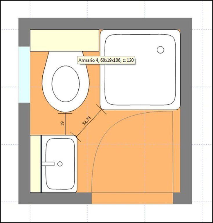 Resultado de imagen para baños pequeños planos medidas