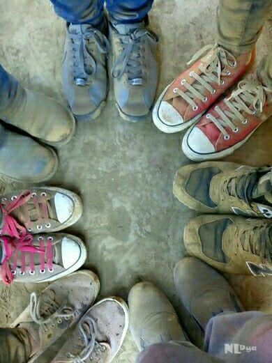 Friends and shoes