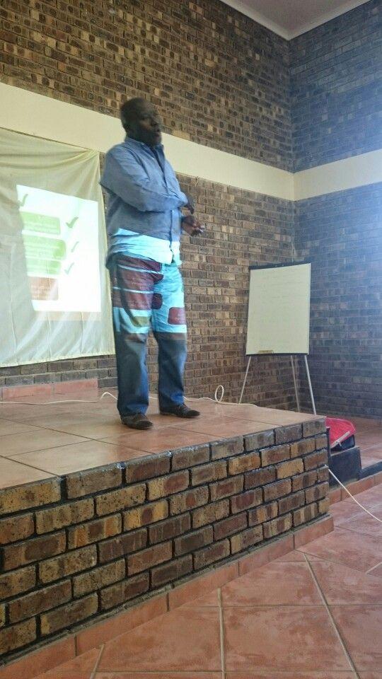 Mr. Mthethwa of Isibonelo during the Oshoek Precinct meeting