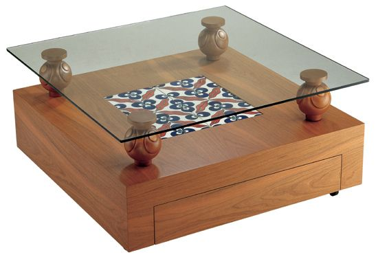 İznik tiled coffee table - İznik çinili çintemani sehpa - Anikya İznik Çini - İstanbul