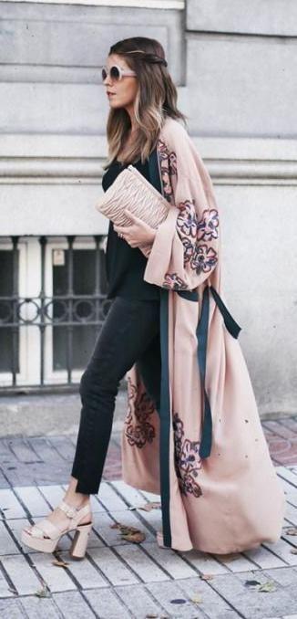 kimono. street style.... - Summer Street Style Fashion Looks 2017