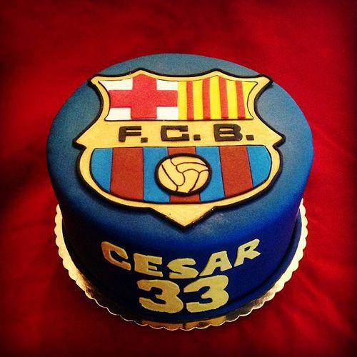 Barcelona (FCB) soccer team birthday cake by Simply Sweet Creations (www.simplysweetonline.com):