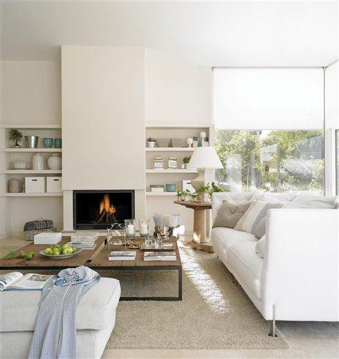 Una decoración blanca y transparente · ElMueble.com · Casas