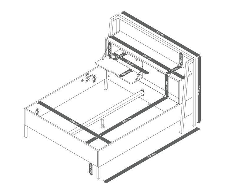 bett mit stauraumkopfteil tchibo pinterest. Black Bedroom Furniture Sets. Home Design Ideas