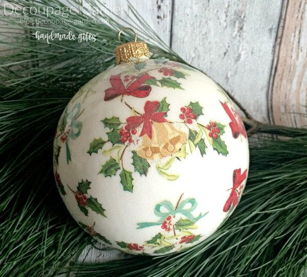 Christmas Decoration Cath Kidston, Xmas Ornament with Holly, Holly Christmas Decoration by DecorativeGarden on Etsy