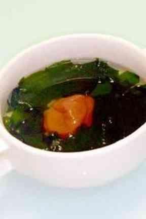 梅干しとワカメのスープ