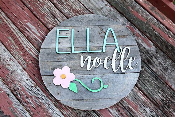 Wood Sign | Nursery Decor | Circle Wood Sign | Personalized Wood Sign | Rustic wood sign | Circular wood cutout | Custom Made
