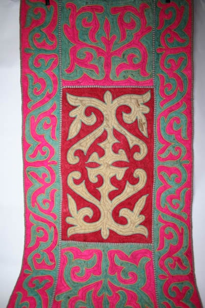 The Shyrdak rug is traditionally made by the nomad tribes of Kyrgyzstan - living in remote mountainous regions of Central Asia the nomads moved with the seasons. Living in white felt yurts, decorated on the floors and walls with Shyrdak Felt Rugs.
