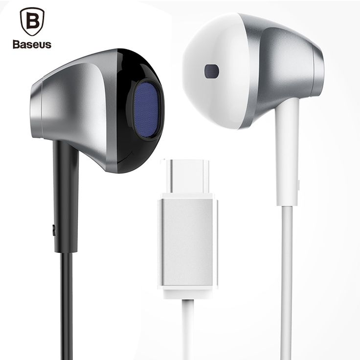 Baseus b51 usb type c in-ear earphone with heavy bass stereo microphone c-type headset for huawei p9 xiaomi 5 LeTV 2 earphones
