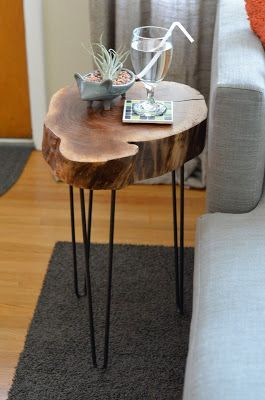 tree limb hinged table legs | It's kind of ironic that this lovely table was part of something that …