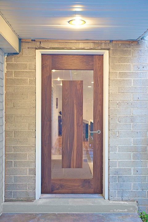 ideas that changed architecture #5 - door  wood, glass, masonry...traditional materials in a modern form