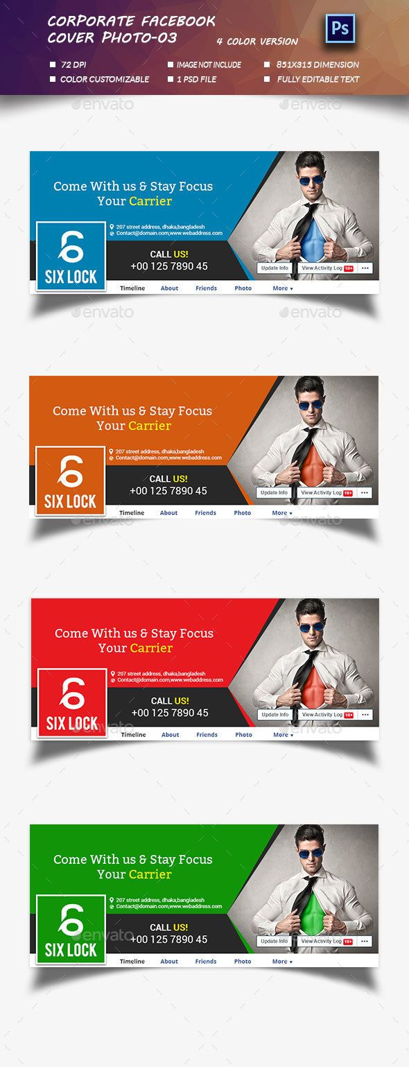 Corporate Facebook Timeline Cover Photo Template PSD #design Download: http://graphicriver.net/item/corporate-timeline-cover-photo03/13321328?ref=ksioks