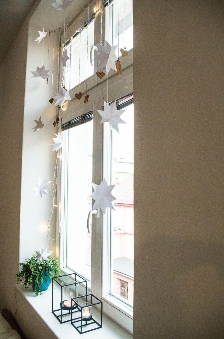 christmas window decoration white christmas