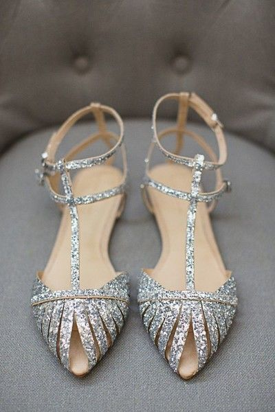 Put on the Glitz - The Prettiest Wedding Flats on Pinterest - Photos