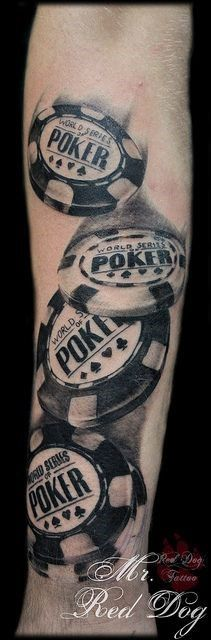 Mr Red Dog Poker Chips Tattoo