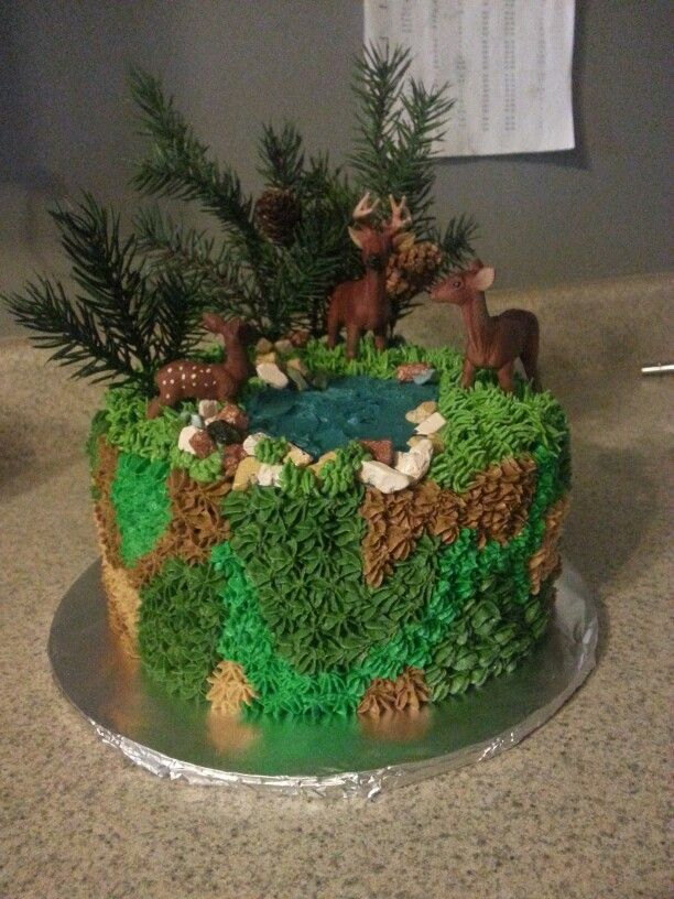Hunting Scene Cake Decorations : Hunting or wildlife cake. Cakes I have made Pinterest ...