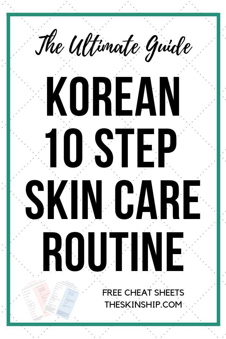 Die berühmte koreanische Hautpflege in 10 Schritten für gesunde, strahlende, schöne Haut … – Skin Care Pimples Home Remedies