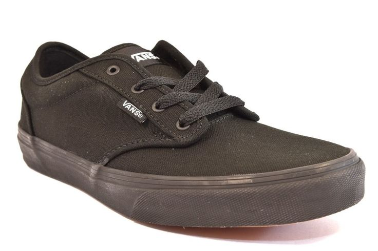 VANS VN000KI5186 ATWOOD CANVAS NERO Junior Cotone Sneakers Tutta Nera Tessuto