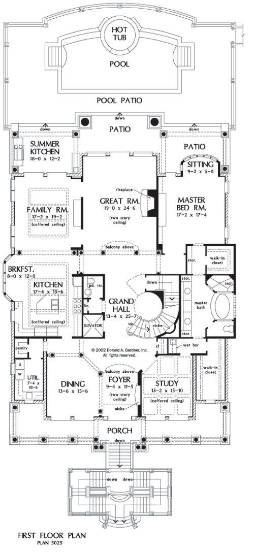 3 story house plans with elevators house design plans for House plans with elevator