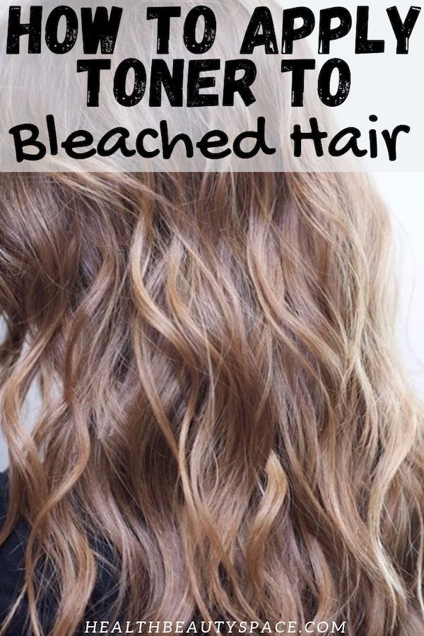 How To Apply Toner To Bleached Hair