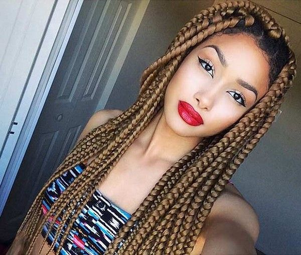 47 Best Big Box Braids Styles And Trends In 2020 Dookie