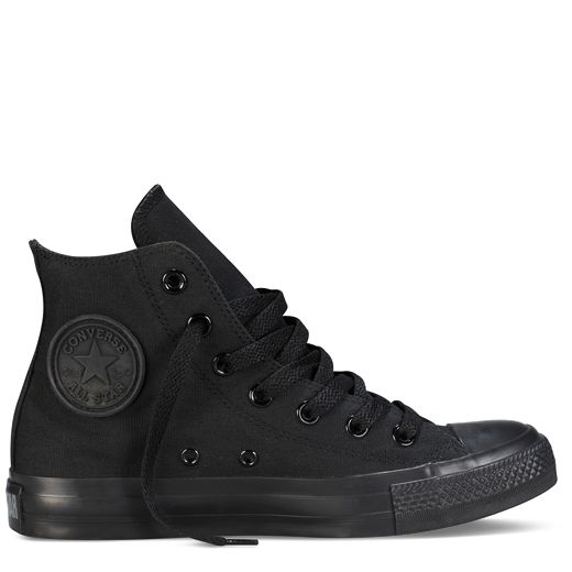 Converse Mens Womens Black All Star Hi Trainers Converse_99 - Chaussures Basket montante Homme