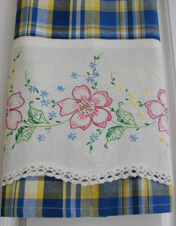 Recycled and Repourposed Vintage Pillowcase to by TwoGirlsLaughing, $20.00