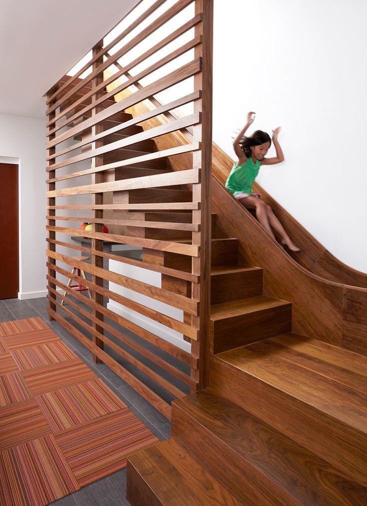 20 Combinação divertida e criativa de corrediças e escadas internas   – Home decor