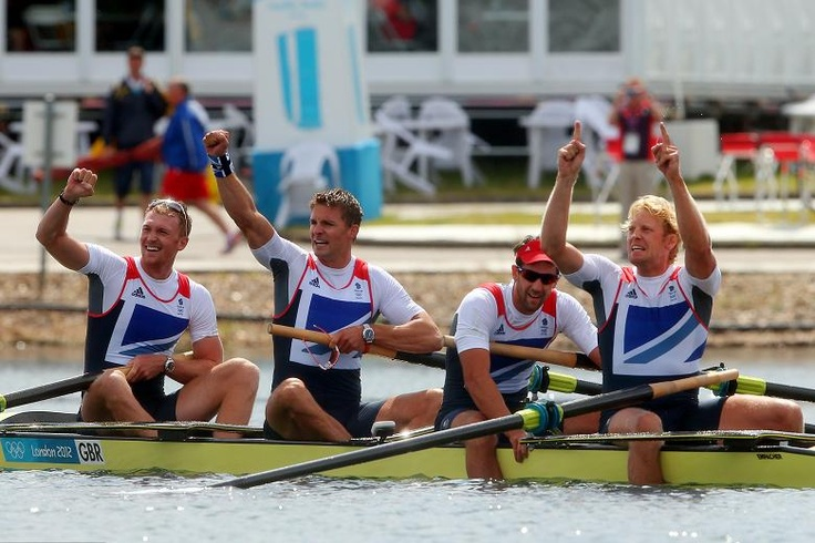 The men's coxless four stormed to gold