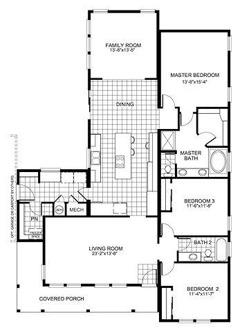 floor plan buckeye with family room homes simple house