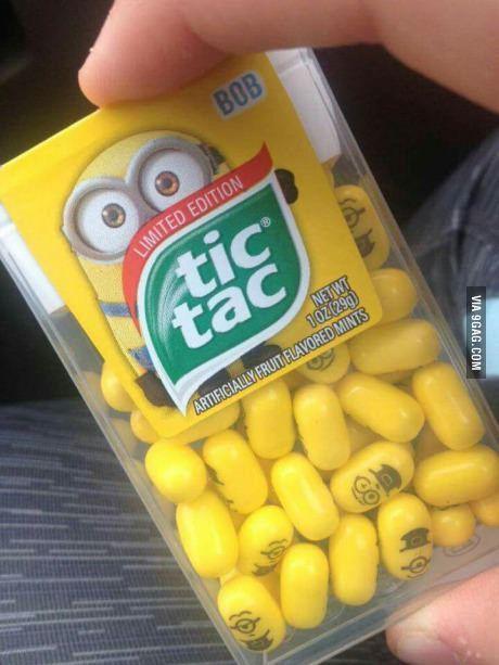 New Tic Tacs... Minions!