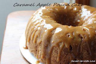 Served Up With Love: Caramel Apple Pound CakePoundcake, Pound Cakes, Sweets, Caramelapples, Bundt Cake, Apples Cake, Apples Pound, Pound Cake Recipe, Caramel Apples