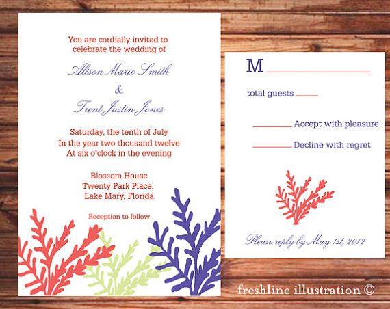 Printable Beach Wedding Invitations: Wedding Invitation, Beach Wedding, Invitation