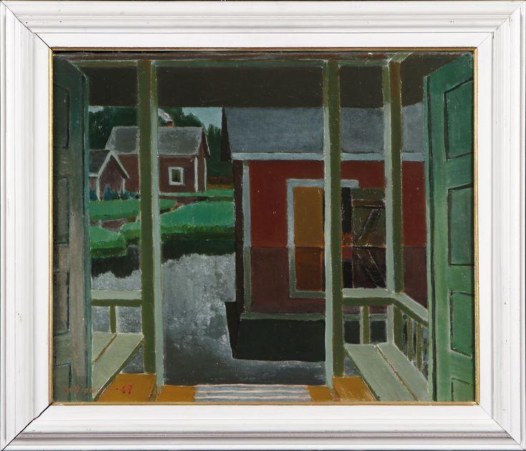 Veikko Vionoja: Kevättulva, 1967, öljy, 45x55 cm - Hagelstam A125