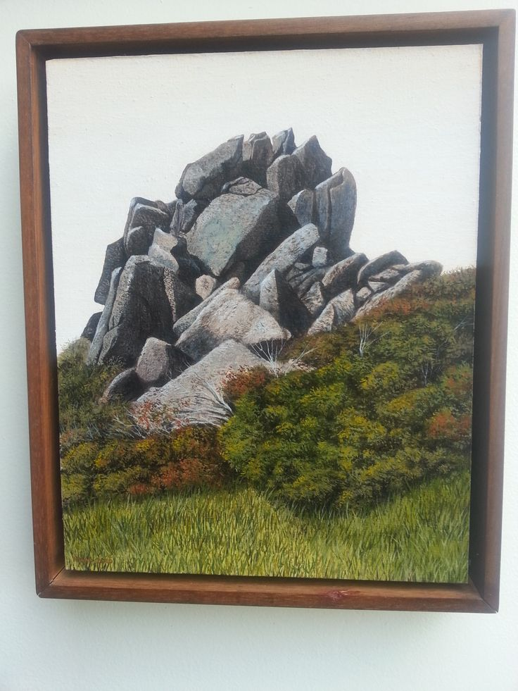 ''Cairn''. Original Oil Painting by Melbourne Artist, Jason Moad