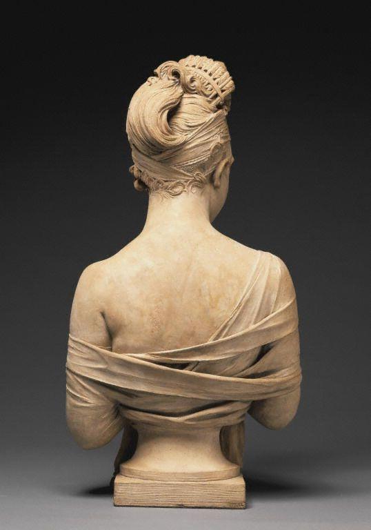 Bust of Juliette Récamier (back view). Joseph Chinard, c.1801-2 (J. Paul Getty Museum).