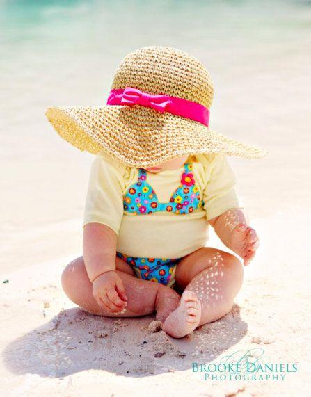 Beach baby. How cute.