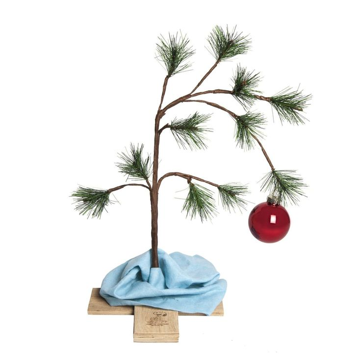 "Peanut Christmas Tree: Product Works Peanuts 14"" Charlie Brown"