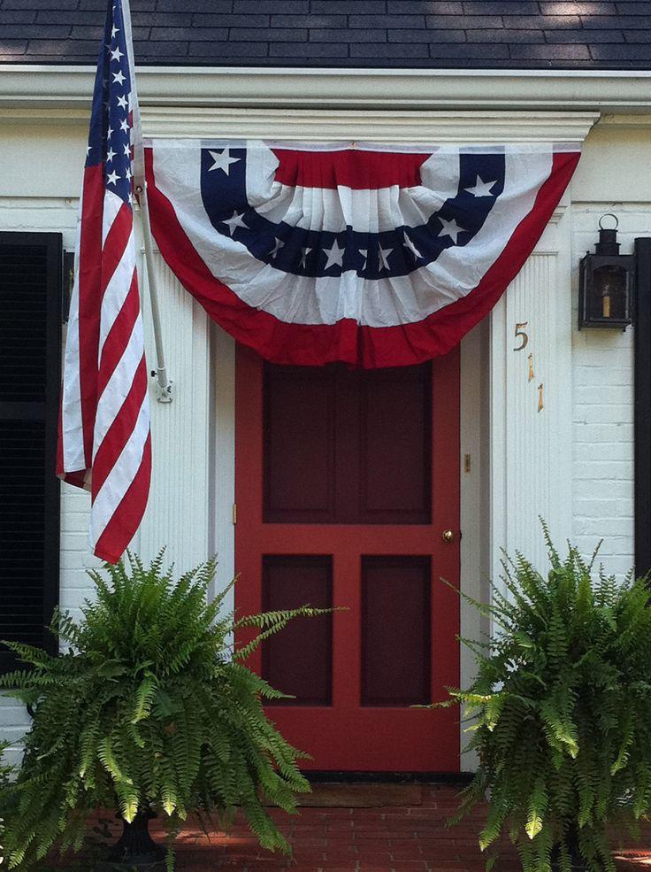 4th Of July Door Hanger Red White Blue