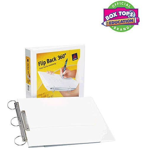 """Avery 1.5"""" Flip Back View Binder with Round Ring, WhiteView Binder, Round Rings, Avery 1 5"""