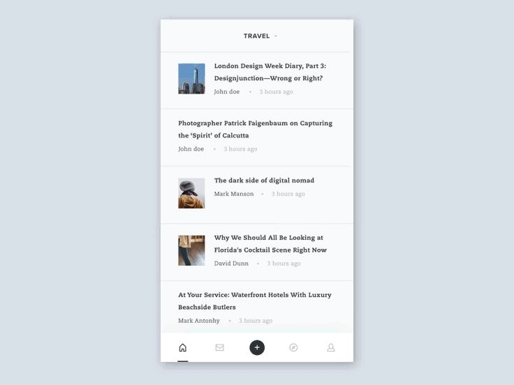 Blog App - UI Movement