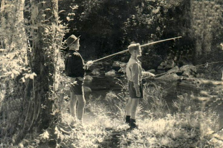 My Dad (on the right) fishing the Ngwangwane River with his late brother, Eric, many moons ago.